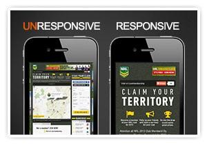 un-responsive vs responsive site